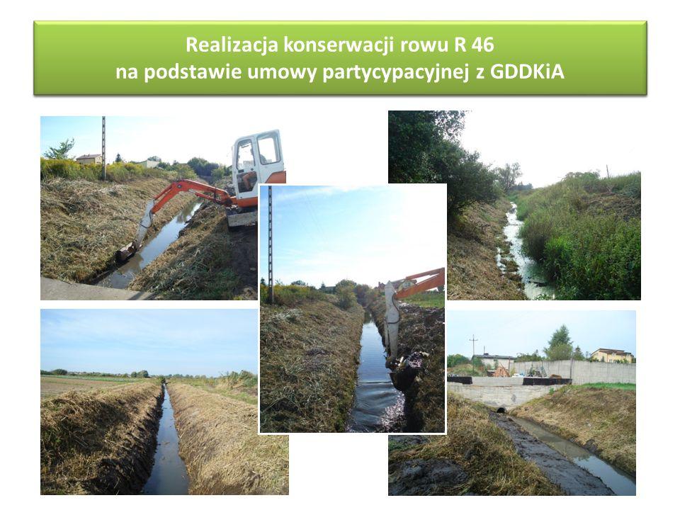 Realizacja konserwacji rowu R 46