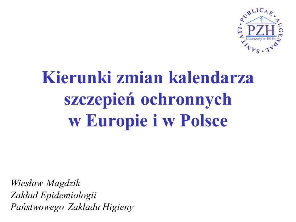Kierunki zmian kalendarza szczepień ochronnych w Europie i w Polsce