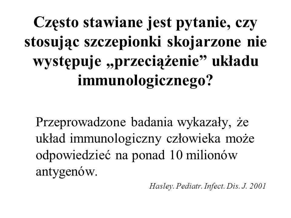 """Często stawiane jest pytanie, czy stosując szczepionki skojarzone nie występuje """"przeciążenie układu immunologicznego"""