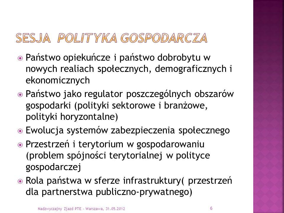 Sesja polityka gospodarcza