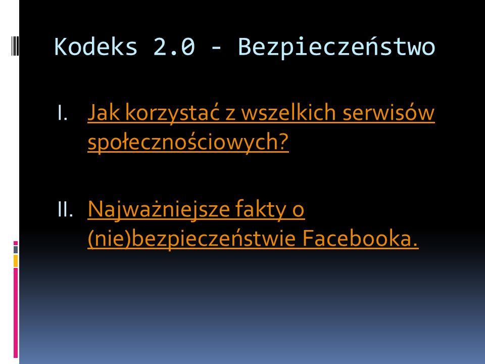 Kodeks 2.0 - Bezpieczeństwo