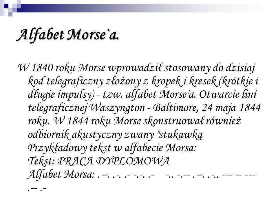 Alfabet Morse`a.