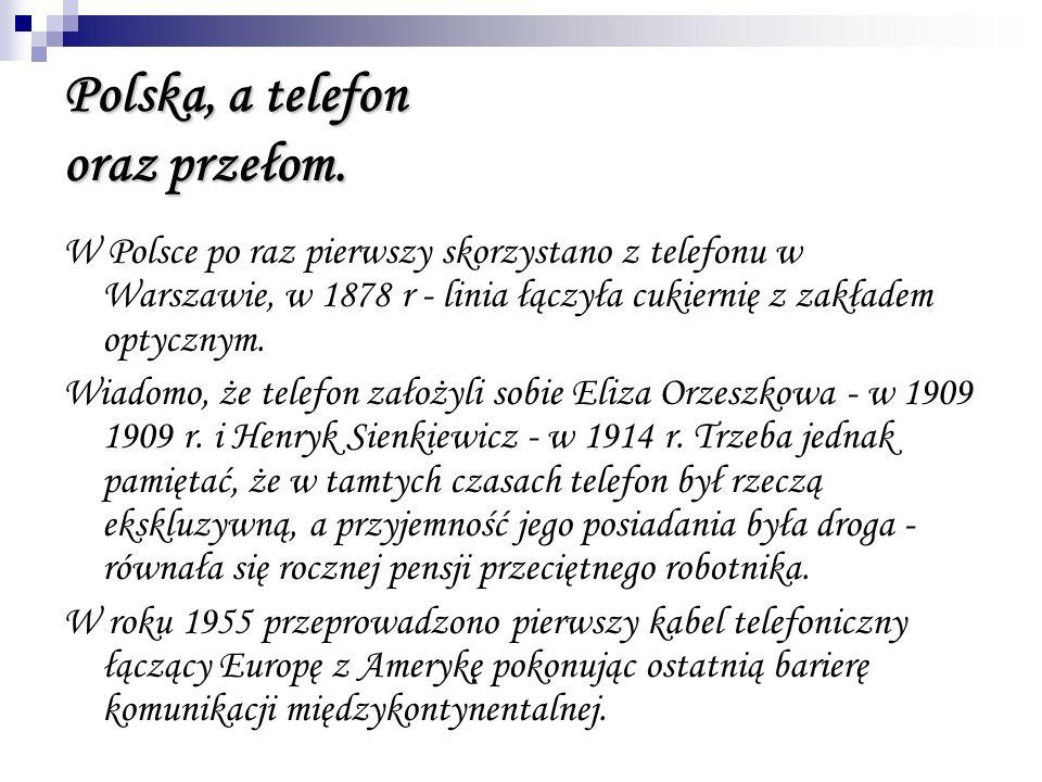 Polska, a telefon oraz przełom.