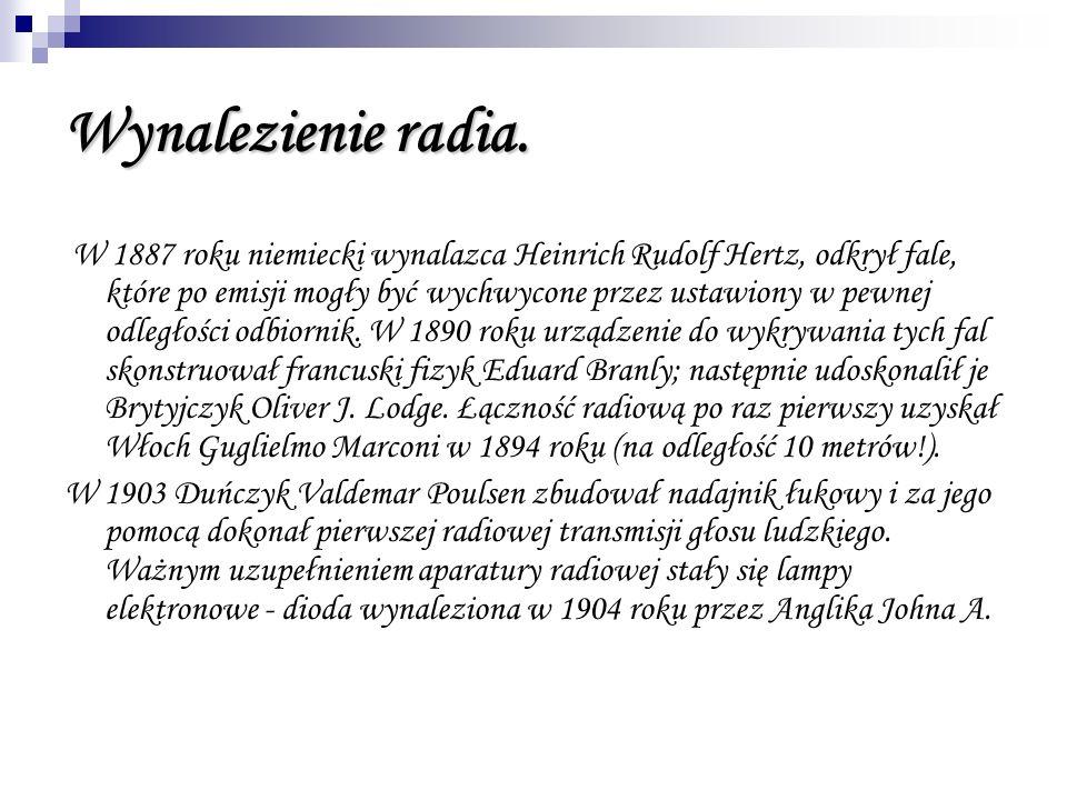 Wynalezienie radia.