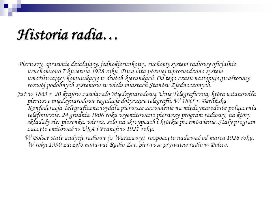 Historia radia…