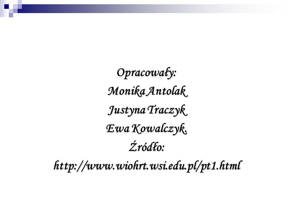 Opracowały: Monika Antolak. Justyna Traczyk. Ewa Kowalczyk.