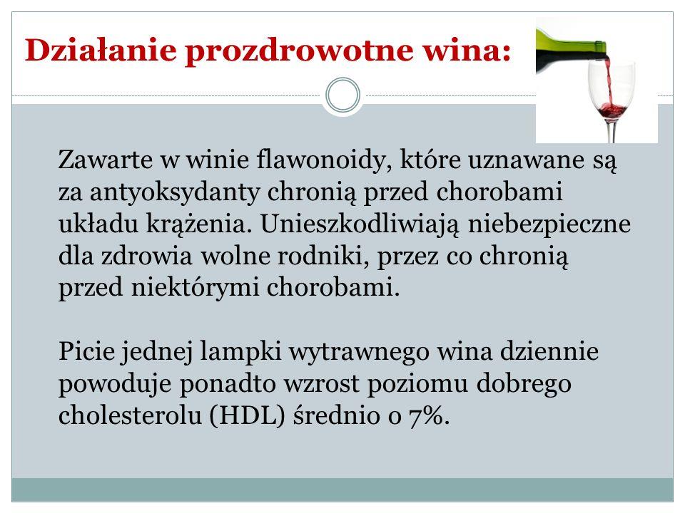 Działanie prozdrowotne wina: