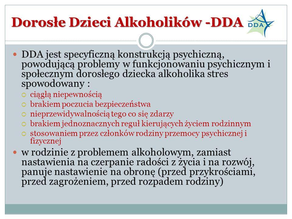 Dorosłe Dzieci Alkoholików -DDA