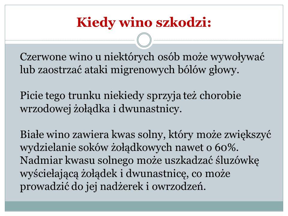 Kiedy wino szkodzi: Czerwone wino u niektórych osób może wywoływać lub zaostrzać ataki migrenowych bólów głowy.