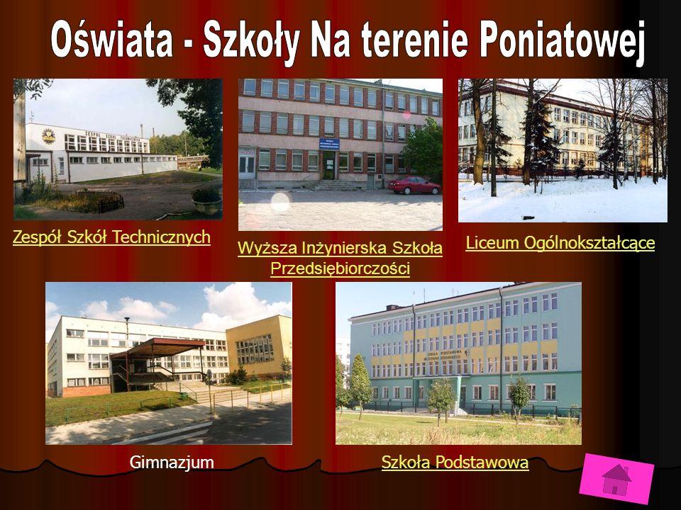 Oświata - Szkoły Na terenie Poniatowej