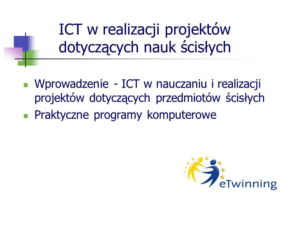 ICT w realizacji projektów dotyczących nauk ścisłych