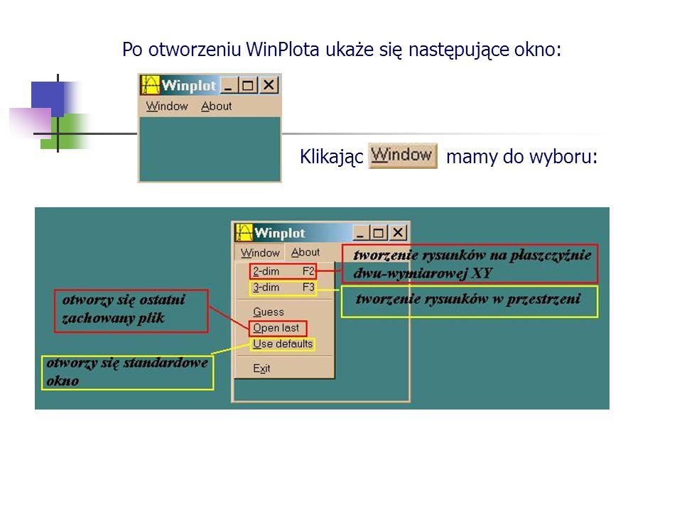 Po otworzeniu WinPlota ukaże się następujące okno: