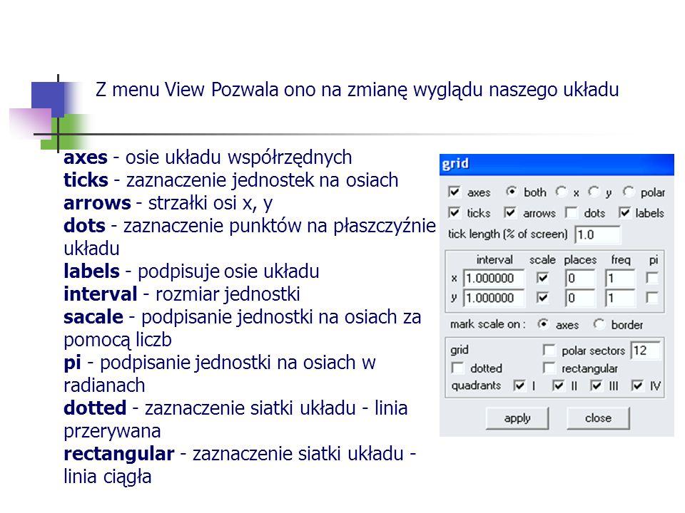 Z menu View Pozwala ono na zmianę wyglądu naszego układu
