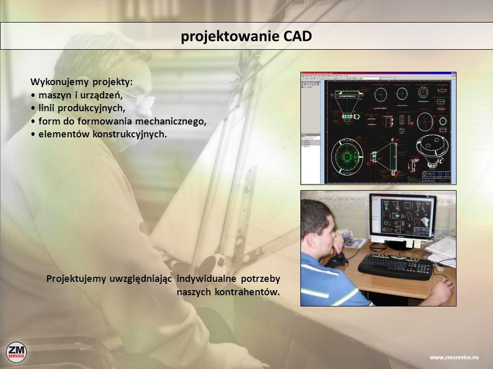 projektowanie CAD Wykonujemy projekty: maszyn i urządzeń,