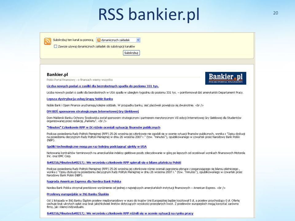 RSS bankier.pl