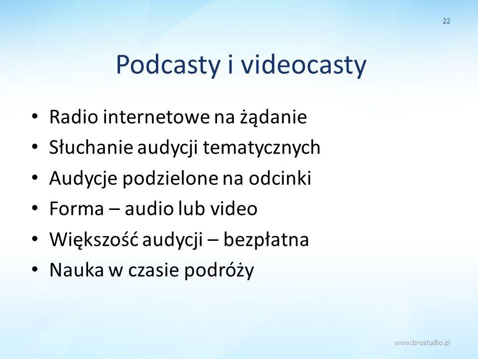 Podcasty i videocasty Radio internetowe na żądanie