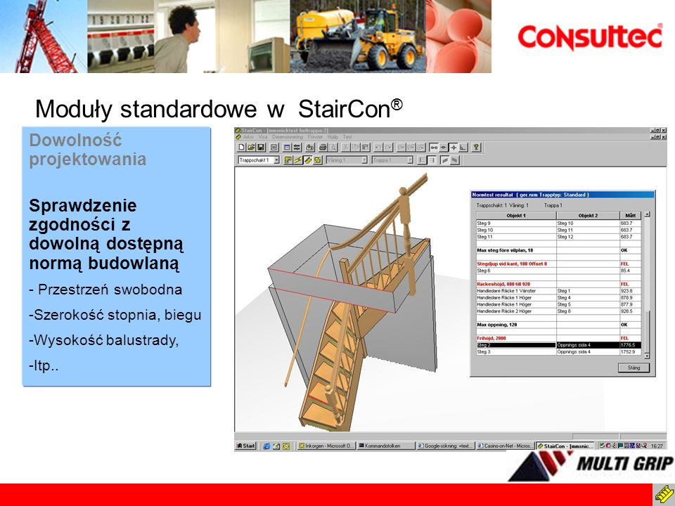 Moduły standardowe w StairCon®
