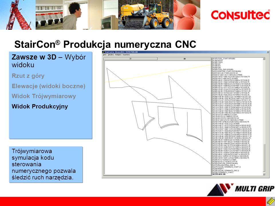 StairCon® Produkcja numeryczna CNC