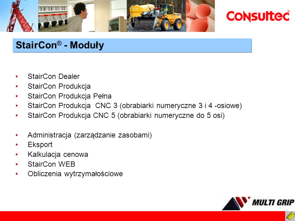 StairCon® - Moduły StairCon Dealer StairCon Produkcja