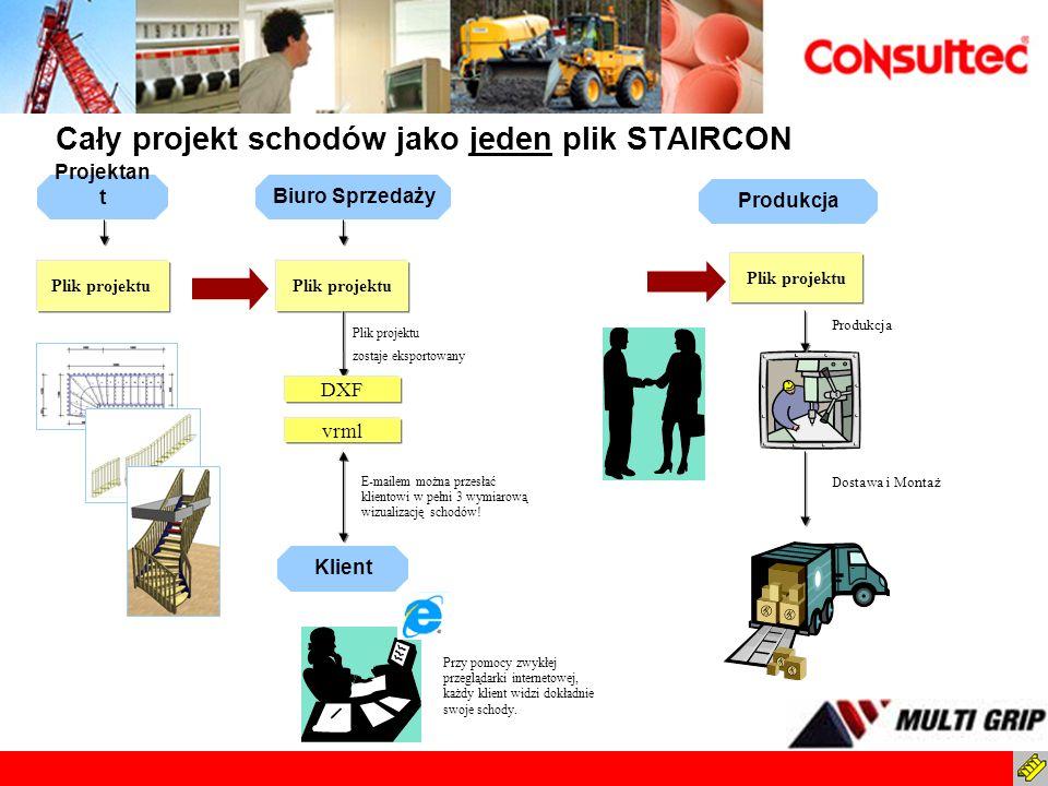 Cały projekt schodów jako jeden plik STAIRCON