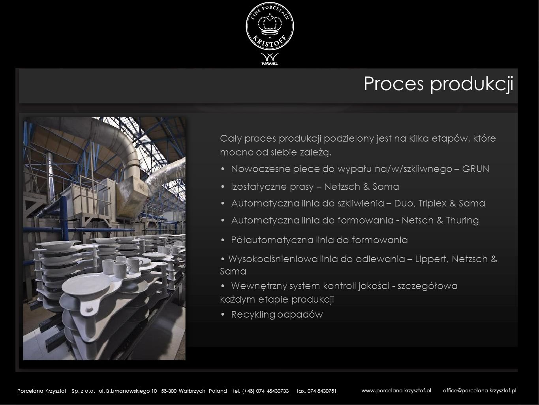 Cały proces produkcji podzielony jest na kilka etapów, które