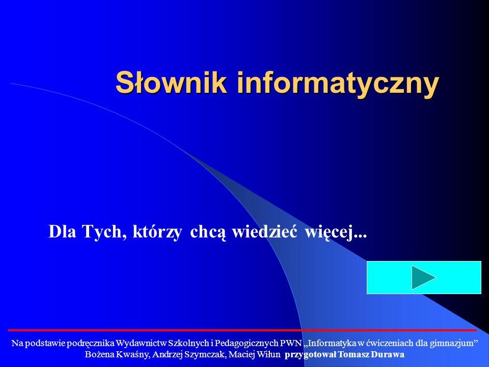 Słownik informatyczny