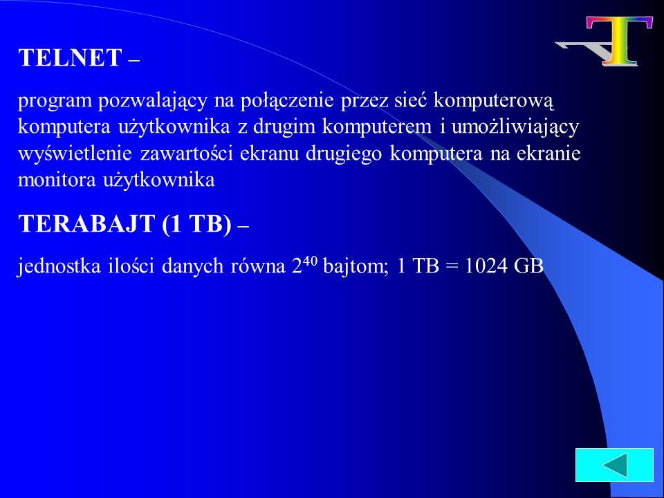 T TELNET – TERABAJT (1 TB) –