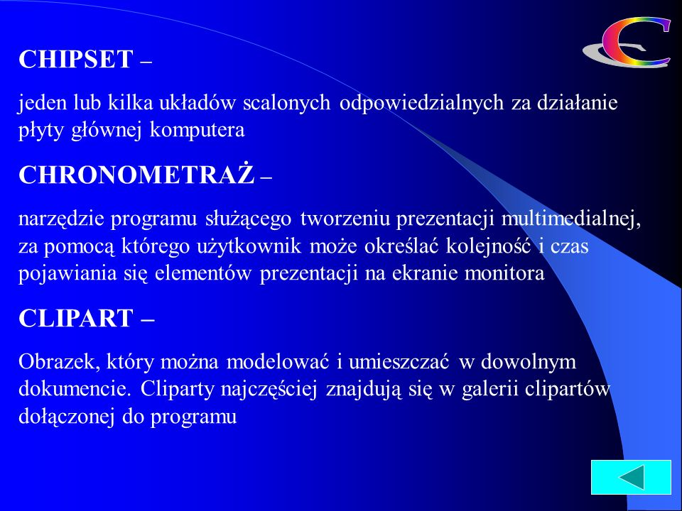 C CHIPSET – CHRONOMETRAŻ – CLIPART –