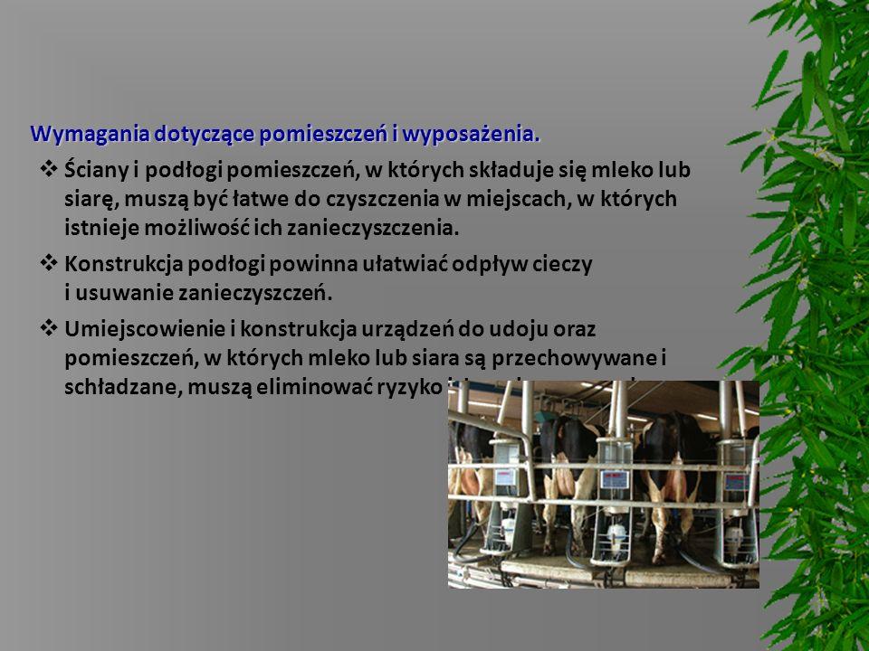Wymagania dotyczące pomieszczeń i wyposażenia.
