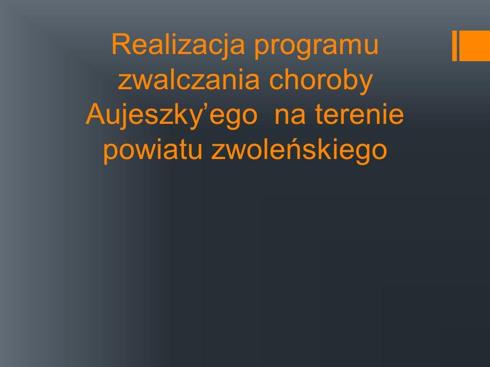Realizacja programu zwalczania choroby Aujeszky'ego na terenie powiatu zwoleńskiego