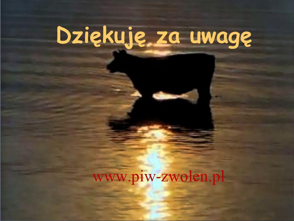 Dziękuję za uwagę KOSZT SWIADECTWA www.piw-zwolen.pl ŚWINIE