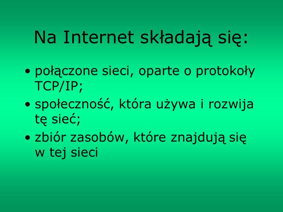 Na Internet składają się: