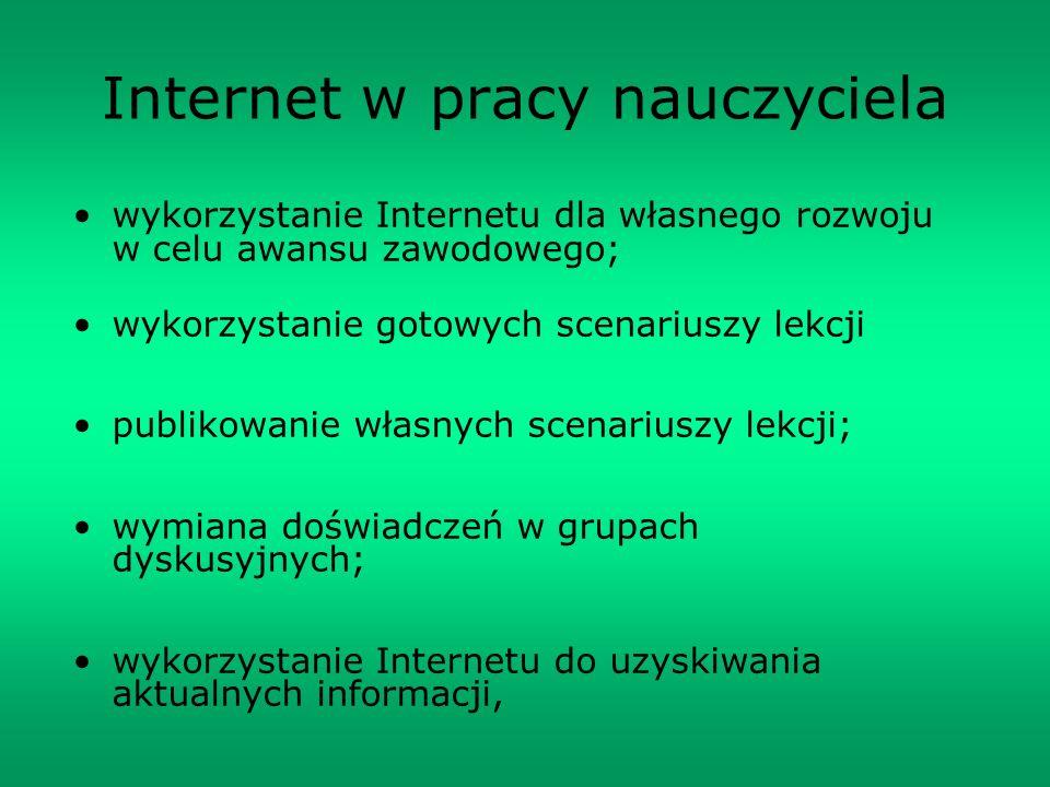 Internet w pracy nauczyciela