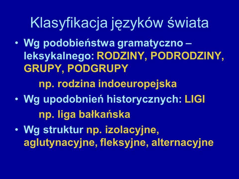 Klasyfikacja języków świata