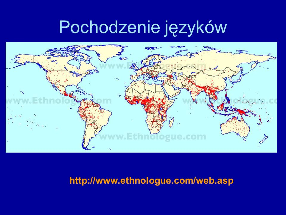 Pochodzenie języków http://www.ethnologue.com/web.asp