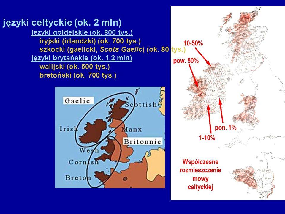 języki celtyckie (ok. 2 mln)