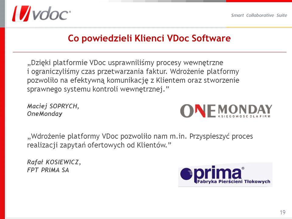Co powiedzieli Klienci VDoc Software