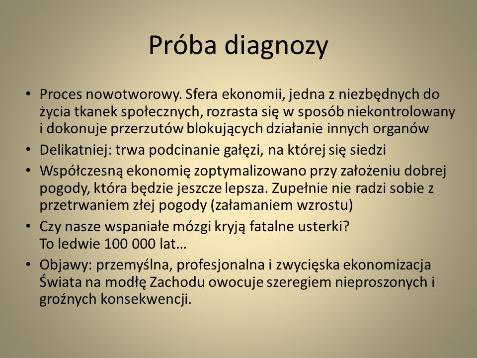 Próba diagnozy