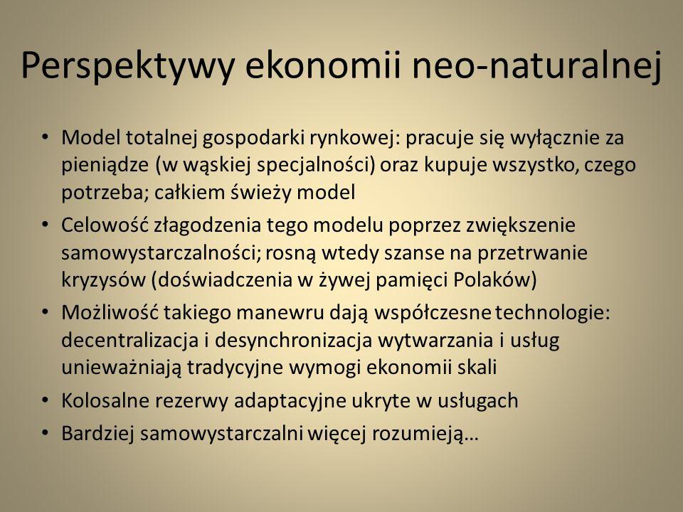 Perspektywy ekonomii neo-naturalnej