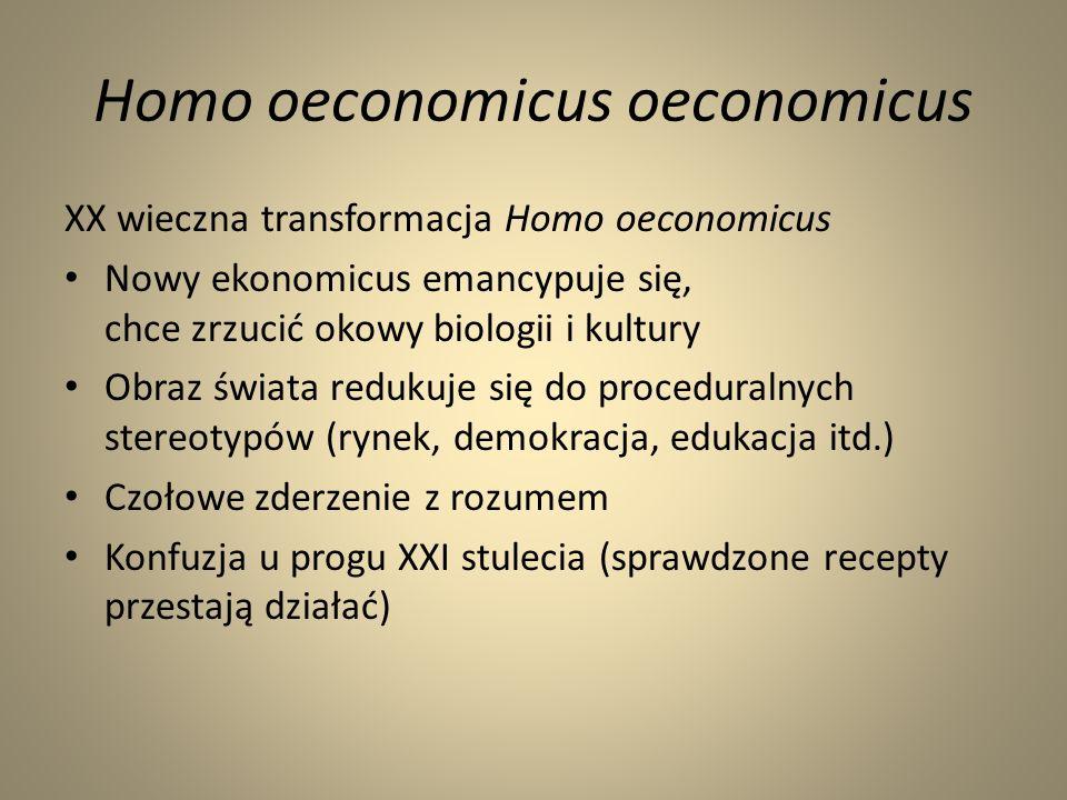 Homo oeconomicus oeconomicus