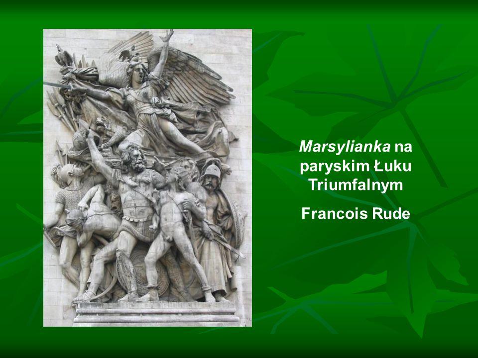 Marsylianka na paryskim Łuku Triumfalnym