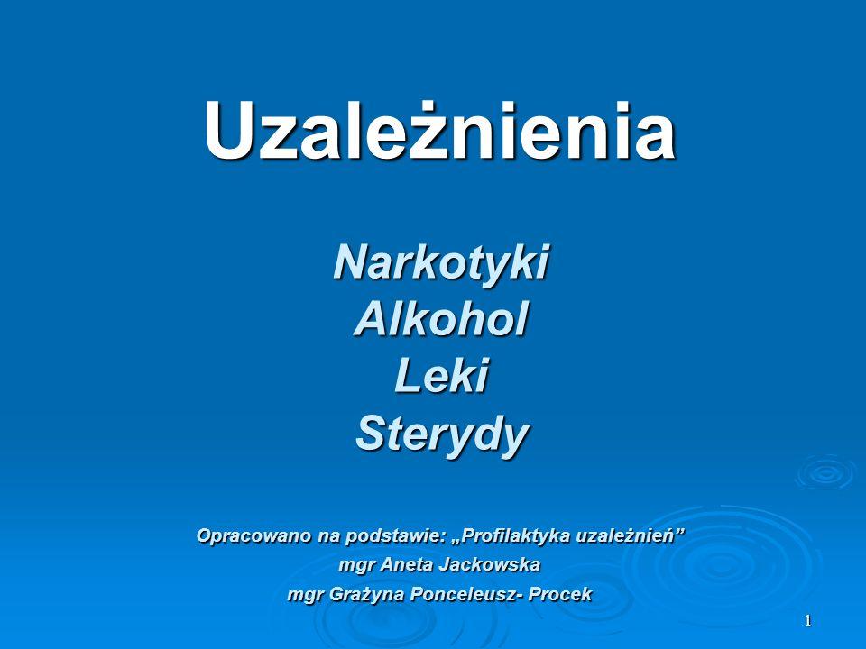 Uzależnienia Narkotyki Alkohol Leki Sterydy