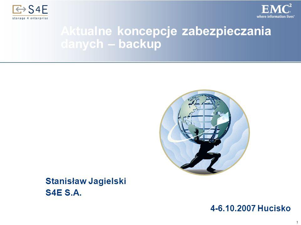 Aktualne koncepcje zabezpieczania danych – backup