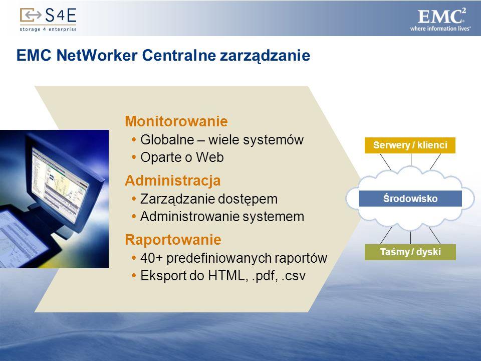 EMC NetWorker Centralne zarządzanie