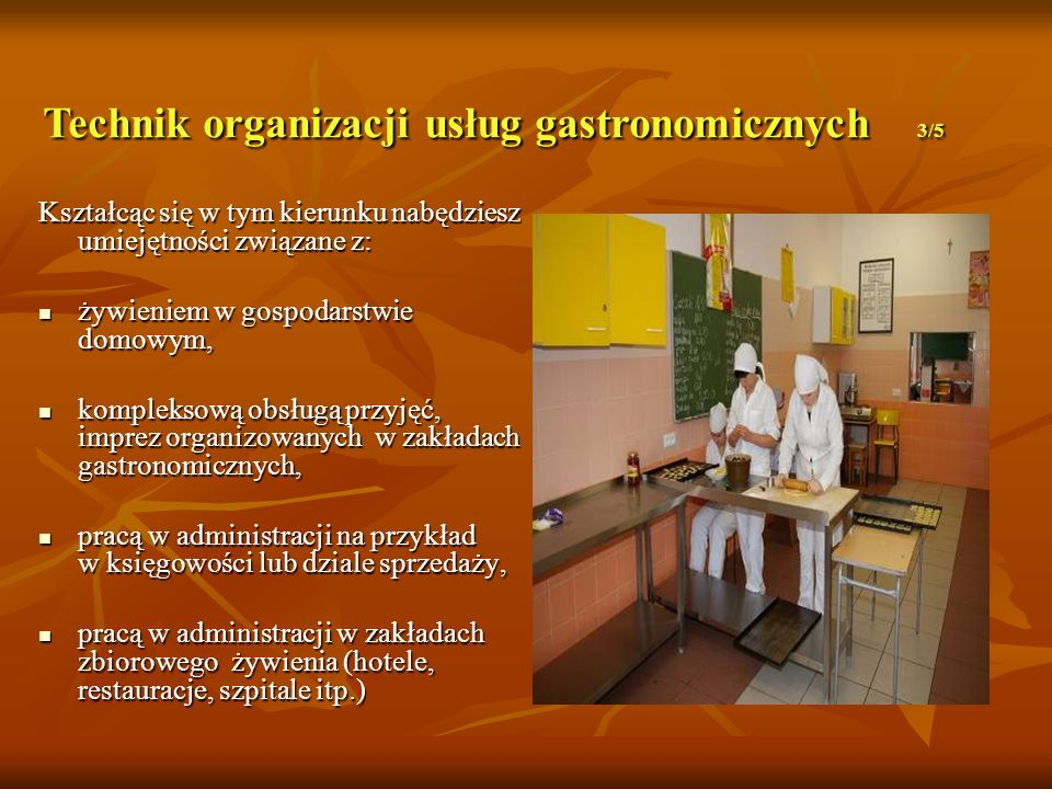 Technik organizacji usług gastronomicznych 3/5