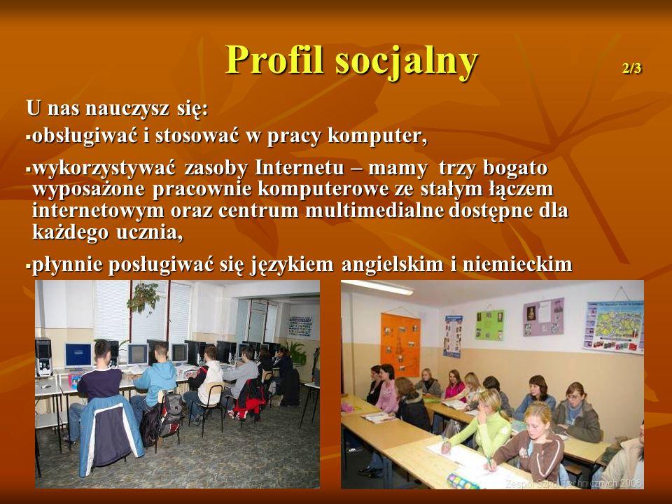 Profil socjalny 2/3 U nas nauczysz się: