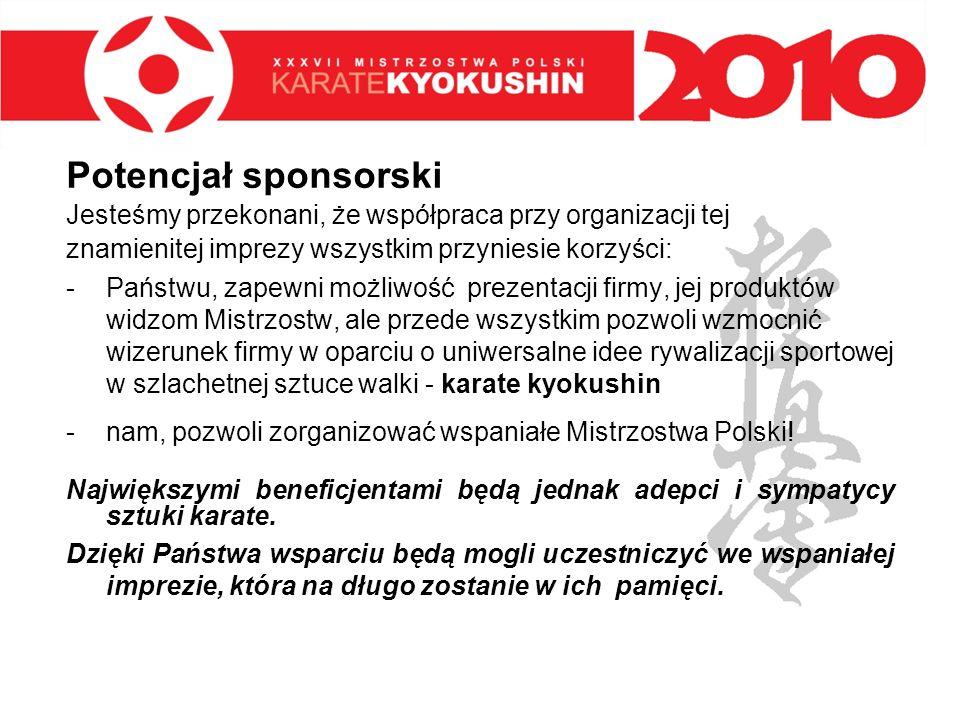Potencjał sponsorski Jesteśmy przekonani, że współpraca przy organizacji tej. znamienitej imprezy wszystkim przyniesie korzyści: