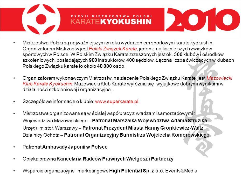 Mistrzostwa Polski są najważniejszym w roku wydarzeniem sportowym karate kyokushin. Organizatorem Mistrzostw jest Polski Związek Karate, jeden z najliczniejszych związków sportowych w Polsce. W Polskim Związku Karate zrzeszonych jest ok. 300 klubów i ośrodków szkoleniowych, posiadających 900 instruktorów, 400 sędziów. Łączna liczba ćwiczących w klubach Polskiego Związku karate to około 40 000 osób.