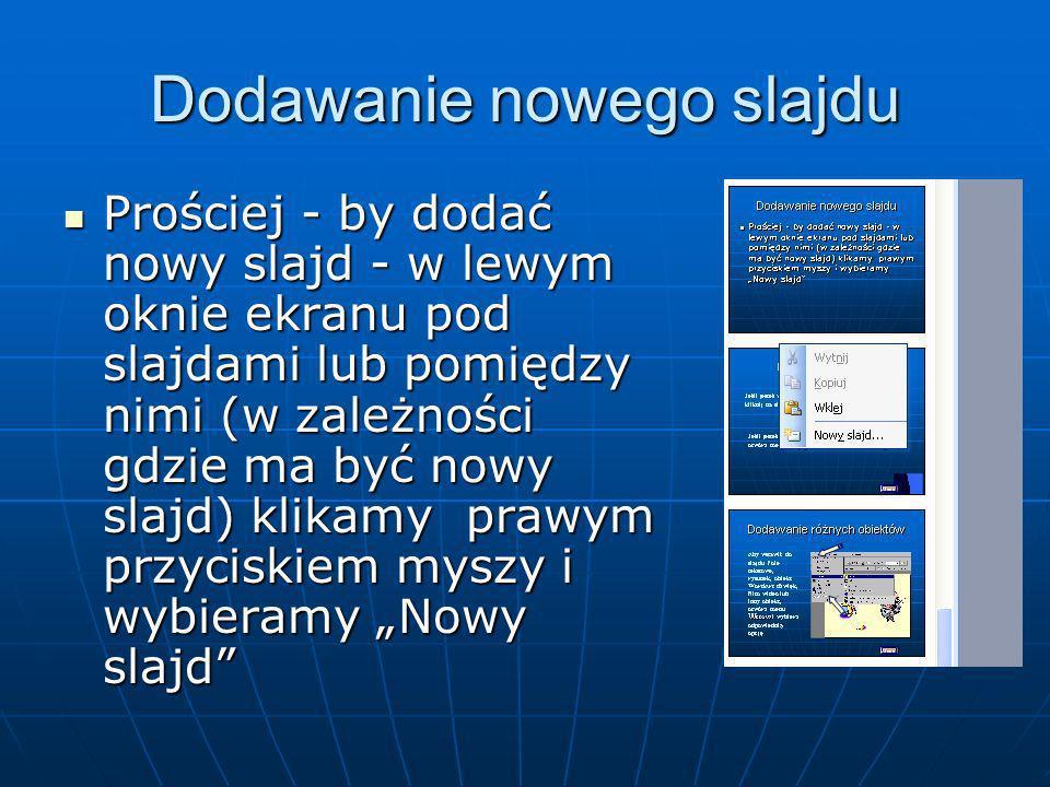 Dodawanie nowego slajdu