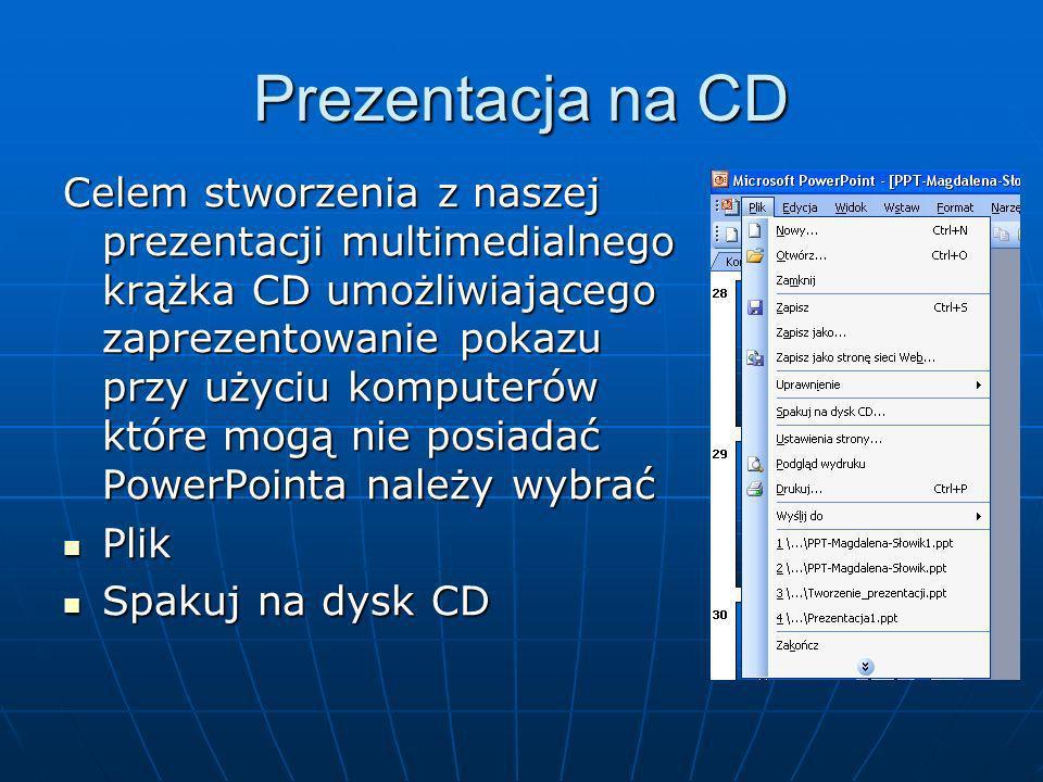 Prezentacja na CD
